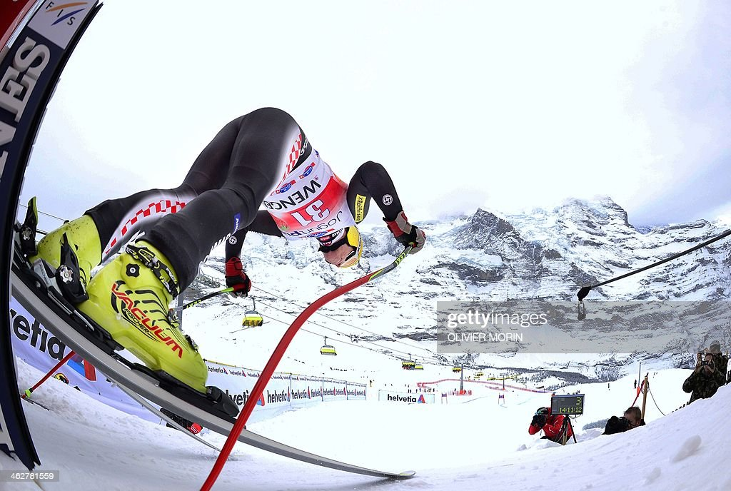 SKI-ALPINE-WORLD-MEN-DOWNHILL-TRAINING : News Photo