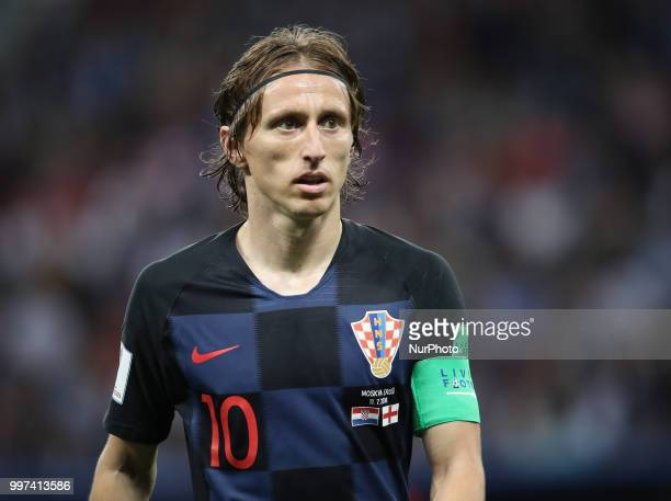 Croatia's Luka Modric during the 2018 FIFA World Cup Russia Semi Final match between England and Croatia at Luzhniki Stadium on July 11 2018 in...