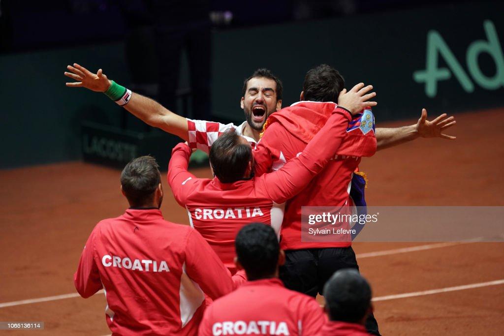France v Croatia - Davis Cup Final: Day Three : News Photo