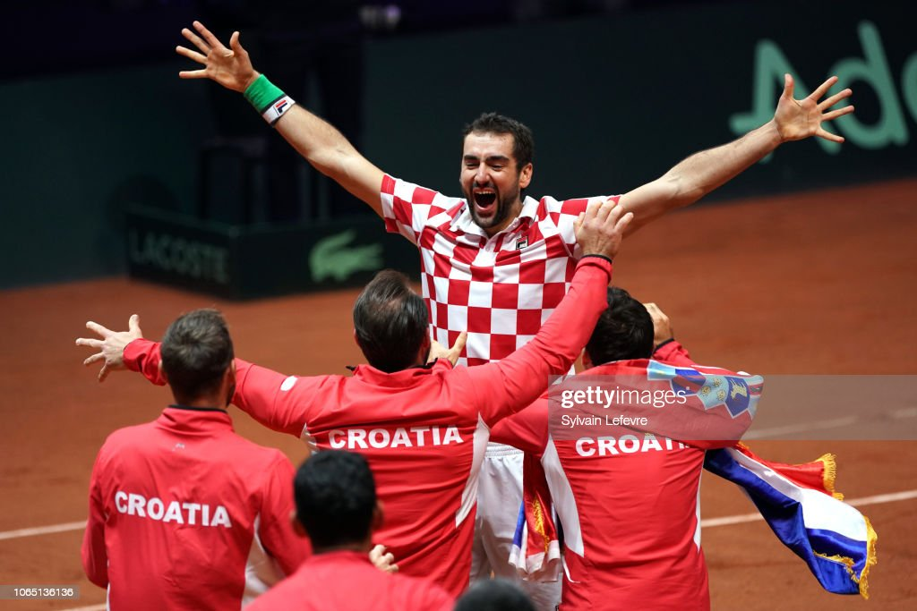 France v Croatia - Davis Cup Final: Day Three : Nachrichtenfoto