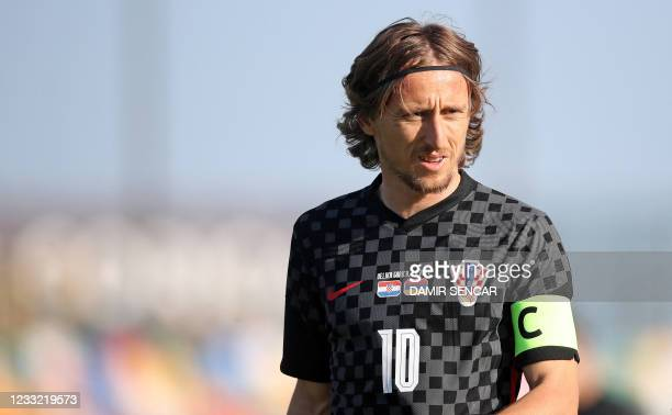 Croatia's midfielder Luka Modric is pictured during a friendly football match between Croatia and Armenia at Velika Gorica, on June 1, 2021 as part...