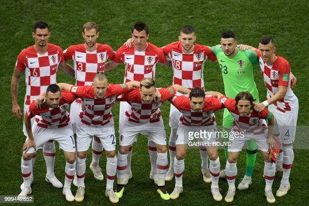 Croatia's midfielder Marcelo Brozovic, Croatia's defender Domagoj Vida, Croatia's midfielder Ivan Rakitic, Croatia's defender Sime Vrsaljko,...