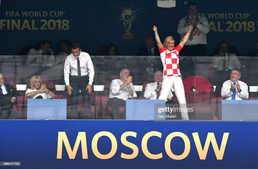 France v Croatia - 2018 FIFA World Cup Russia Final : Nachrichtenfoto