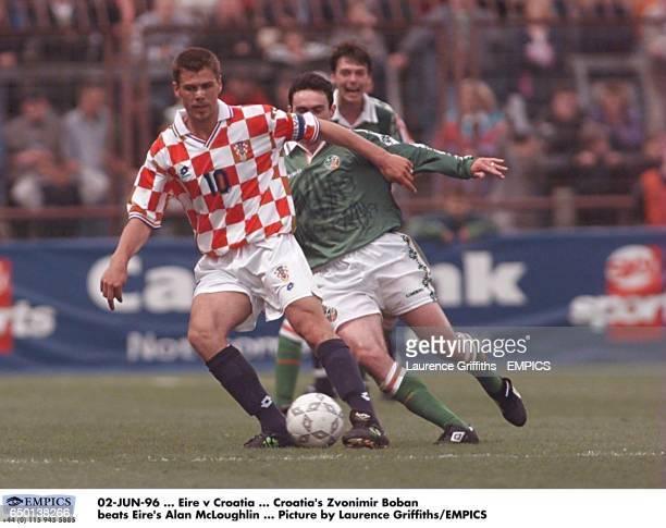 Croatia's Zvonimir Boban beats Ireland's Alan McLoughlin