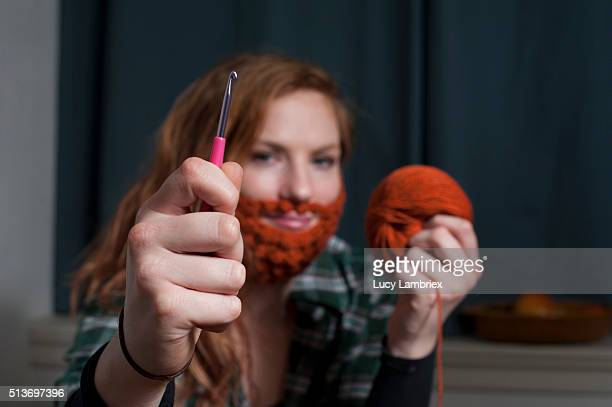 Crochet a beard for Saint Patrick's Day