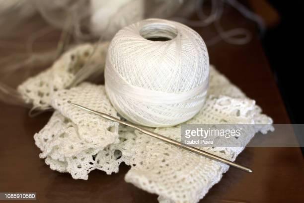 crochet knitting yarn - かぎ針編み ストックフォトと画像