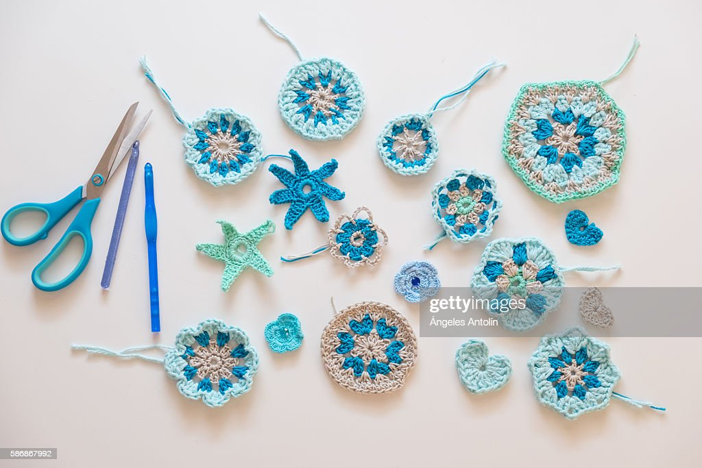 Crochet Motifs : Stock Photo