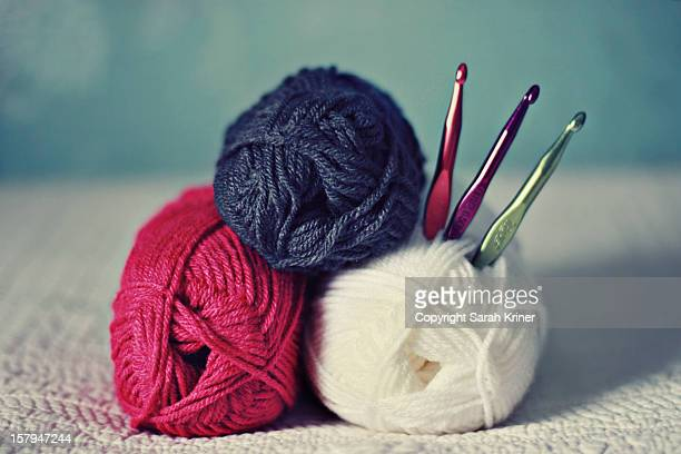Crocheting and Knitting with Bright Colors