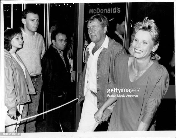 Crocodile Dundee' film premiere at Hoyts George Street CityJohn Singleton amp Belinda Green April 22 1986