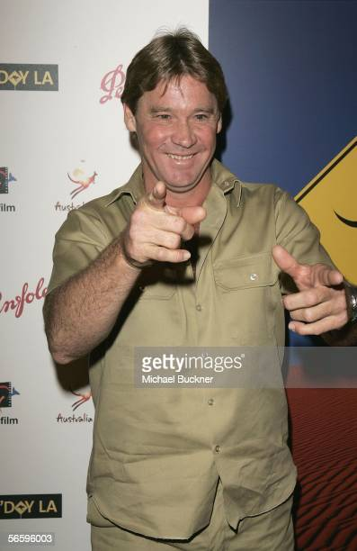 Crocodile Hunter Steve Irwin arrives at the Penfolds Icon Gala presented by G'Day La: Australia Week 2006 at the Palladium on January 14, 2006 in Los...
