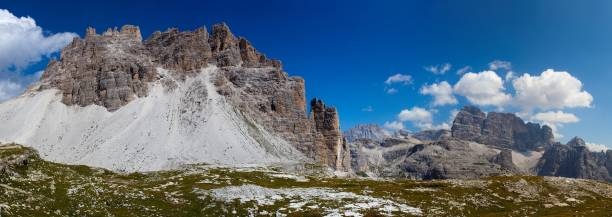 Croda Passaporto near Tre Cime di Lavaredo. in the background from ...