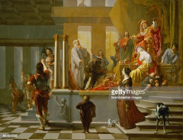 Croesus shows his treasures to Solon 1647 Canvas Inv9869 [Kroesus zeigt Solon seinen Schatz 1647 oel auf Leinwand Inv9869]