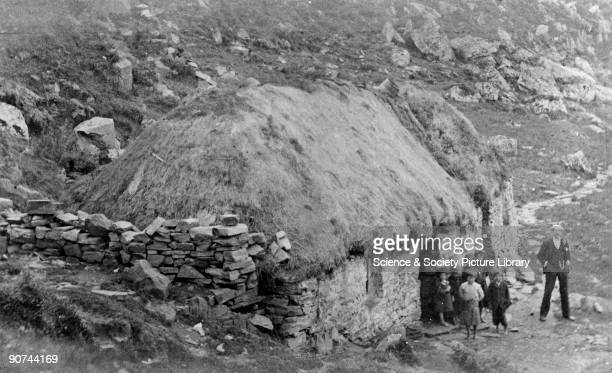 A croft cottage in Mallaig the Highlands Scotland c late 19th century