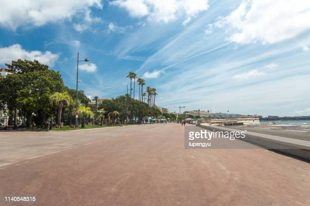 croisette street,cannes - cannes stock pictures, royalty-free photos & images