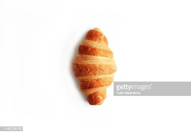 croissant isolated on white background - croissant stock pictures, royalty-free photos & images