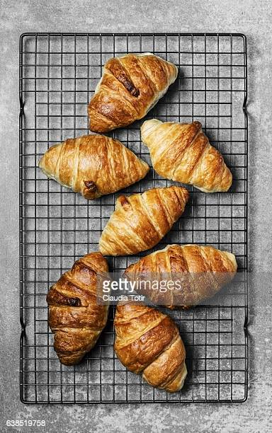 croissant - cooling rack stock photos and pictures