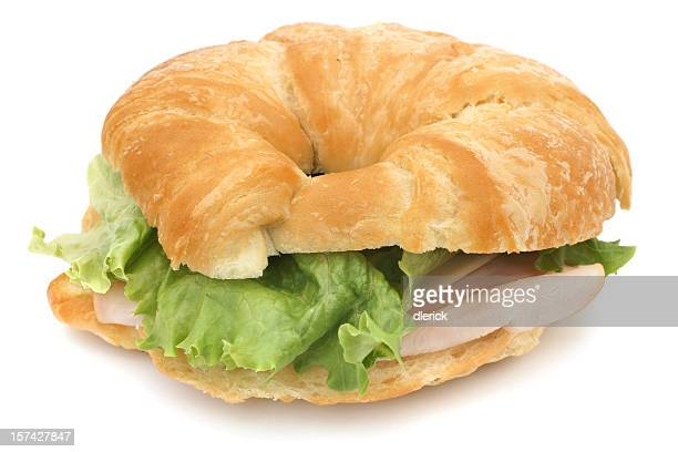 croissant with smoked turkey & cheese