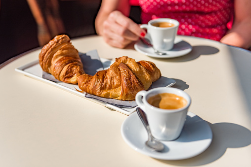 Croissants and coffee - a typical Parisian breakfast - gettyimageskorea