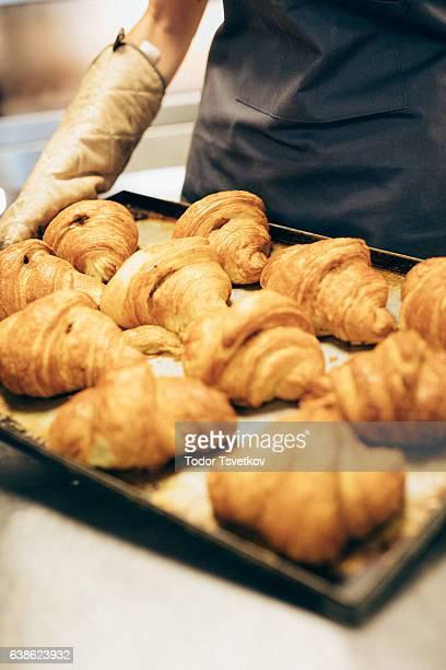 Croissants at a bakery