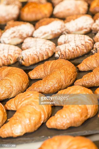 Croissants, French Pastry and Danish in the bakery