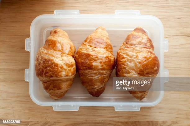 croissants in a lunch box