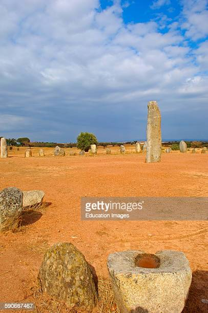 Cromeleque de Xarez Megalithic Site near Monsaraz Telheiro Evora district Alentejo Portugal Europe