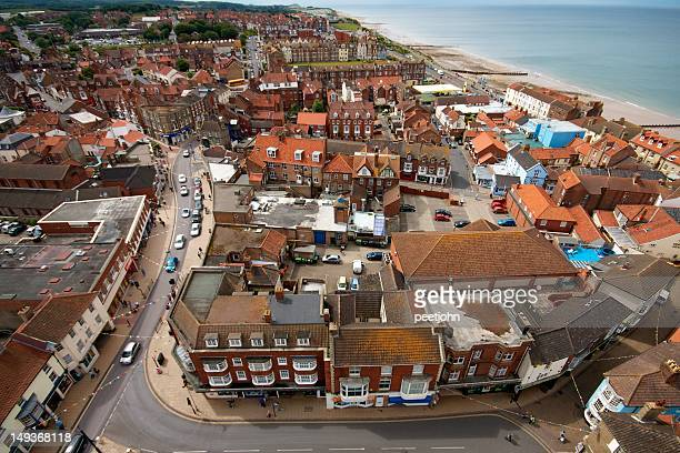 cromer, from church tower - eastern england stock photos and pictures