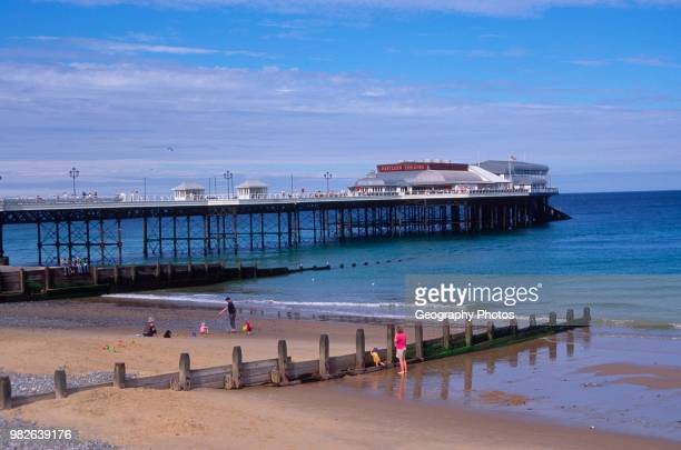 Cromer pier and beach Norfolk England