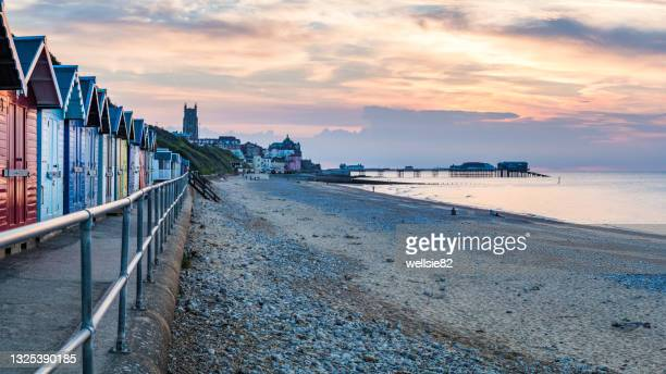 cromer seaside panorama - coastline stock pictures, royalty-free photos & images