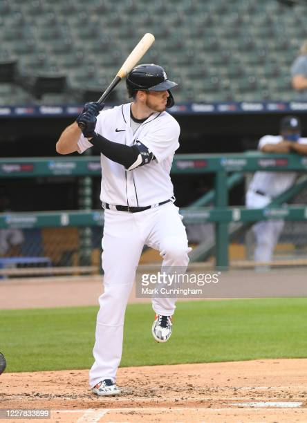 Cron of the Detroit Tigers bats during the Opening Day game against the Kansas City Royals at Comerica Park on July 27, 2020 in Detroit, Michigan....