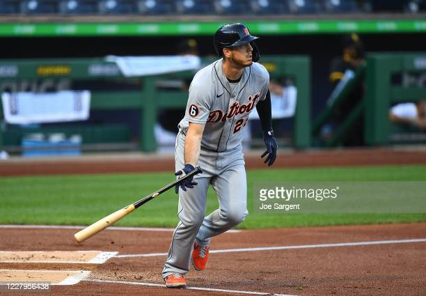 Cron of the Detroit Tigers hits a solo home run during the second inning against the Pittsburgh Pirates at PNC Park on August 7, 2020 in Pittsburgh,...
