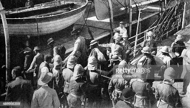 'Cronje's Captive Warriors the Docks Paardeberg' South Africa 1900 Soldiers of Piet Cronje's Boer Army after surrendering to Field Marshal Lord...