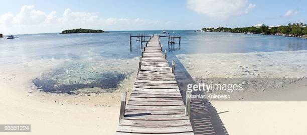 Crooked bridge at the beach, on November 14, 2008 in Great Guana Cay, Bahamas.
