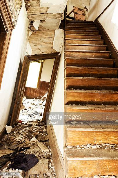 crooked interior - house collapsing stock pictures, royalty-free photos & images