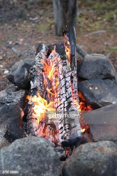 Crop of camp fire in Finland