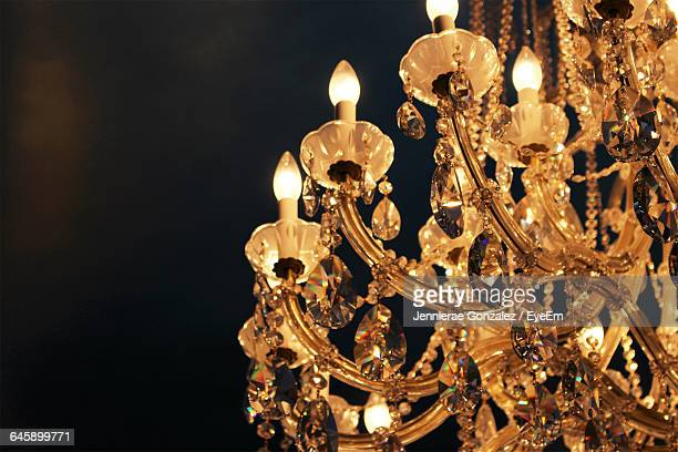 Cropped Chandelier Against Blurred Background