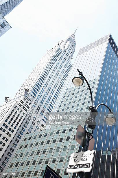 Cropped detail of Chrysler building, New York, USA