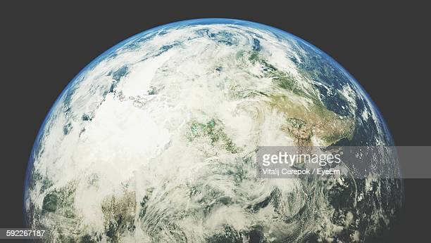 Cropped Earth Against Black Background