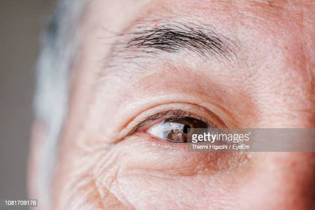 Cropped Eye Of Mature Man
