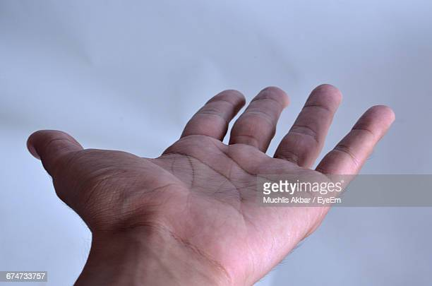 cropped hand against sky - palm of hand stock pictures, royalty-free photos & images