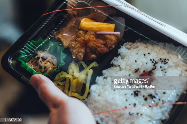 Cropped Hand Holding Lunch Box