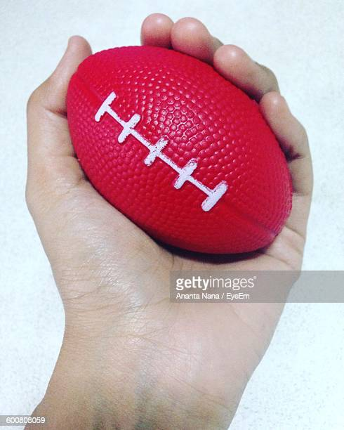 Cropped Hand Holding Stress Ball