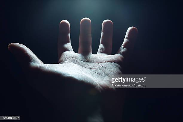 cropped hand in darkroom - open hand stock pictures, royalty-free photos & images