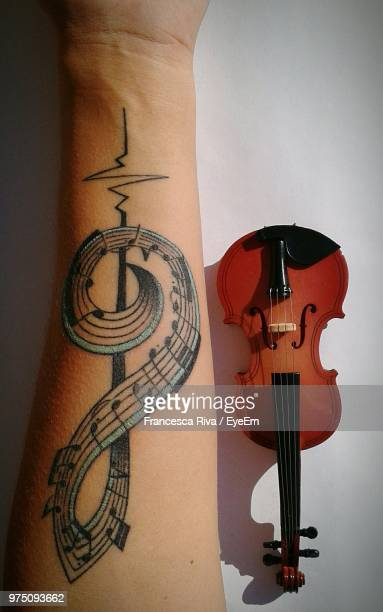 Music Note Symbol Tattoo Stock Photos And Pictures