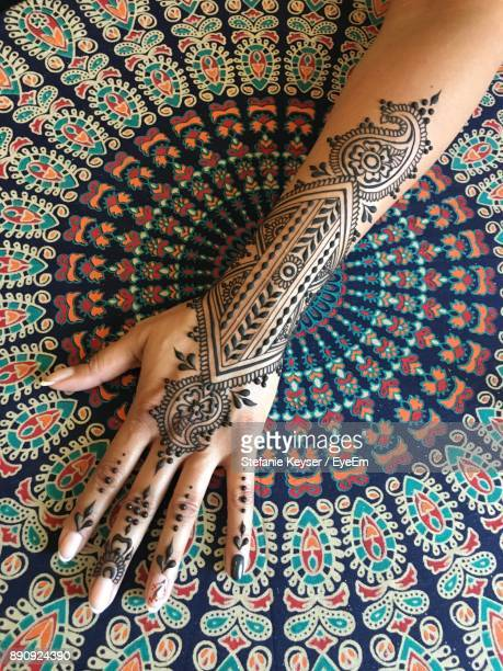 Cropped Hand With Henna Tattoo