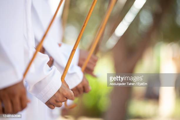 cropped hands holding sticks - tradition stock pictures, royalty-free photos & images