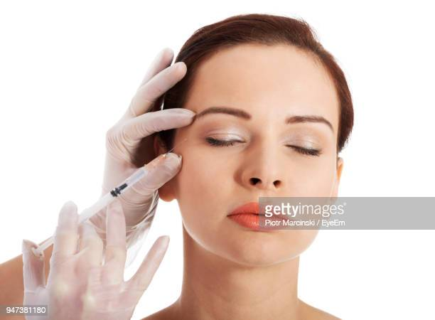 Cropped Image Injection Botox Injection To Women