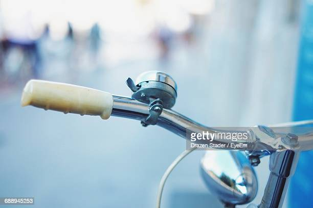 Cropped Image Of Bicycle On Street