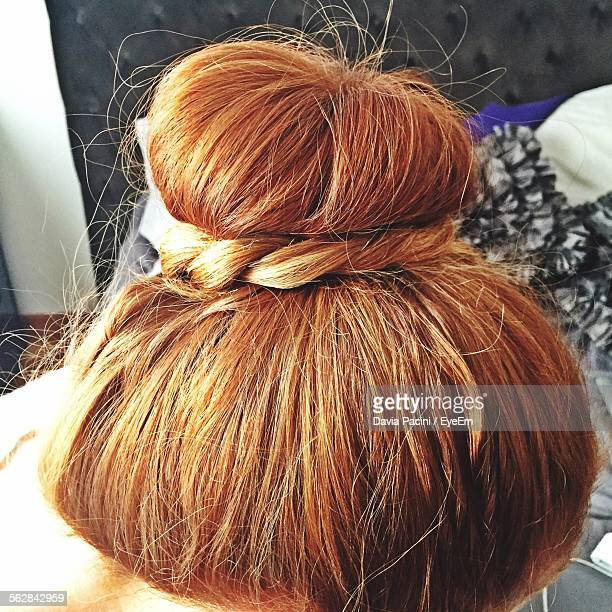 Cropped Image Of Blond Haired Bun