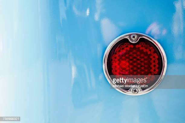 Cropped Image Of Blue Car With Taillight